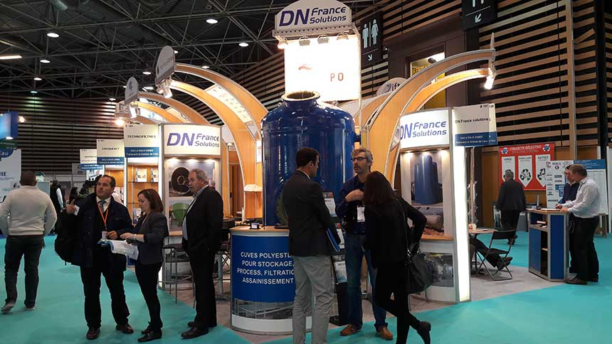 Dn france solutions cuves composite polyester filtres for Salon lyon 2016